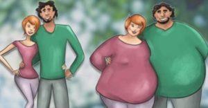 Un estudio lo confirma: Las parejas que se aman de verdad, engordan juntas