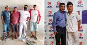 Albañil termina su carrera de enfermería y su logro se hace viral en redes