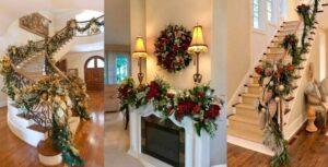 Espectacular decoración con guirnaldas navideñas