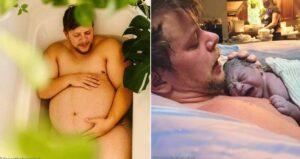 La historia en fotos de Danny Wakefield, un hombre trans que dio a luz a su hijo