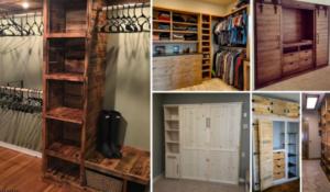 12 closets que puedes hacer tú mismo con madera reciclada
