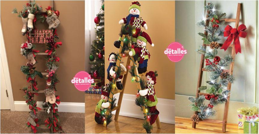 Ideas para incorporar escaleras a la decoración de navidad