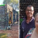 No tenían dinero y construyeron una casa con botellas de vidrio para vivir. Usaron más de 10 mil