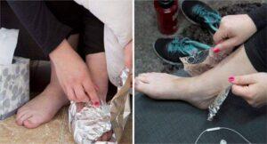 ¿Sabes qué pasa cuando envuelves tus pies en papel aluminio? Ten cuidado: se volverá tu adicción