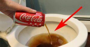 Él echa una coca-cola en el baño. El resultado… ¡Lo tengo que probar!